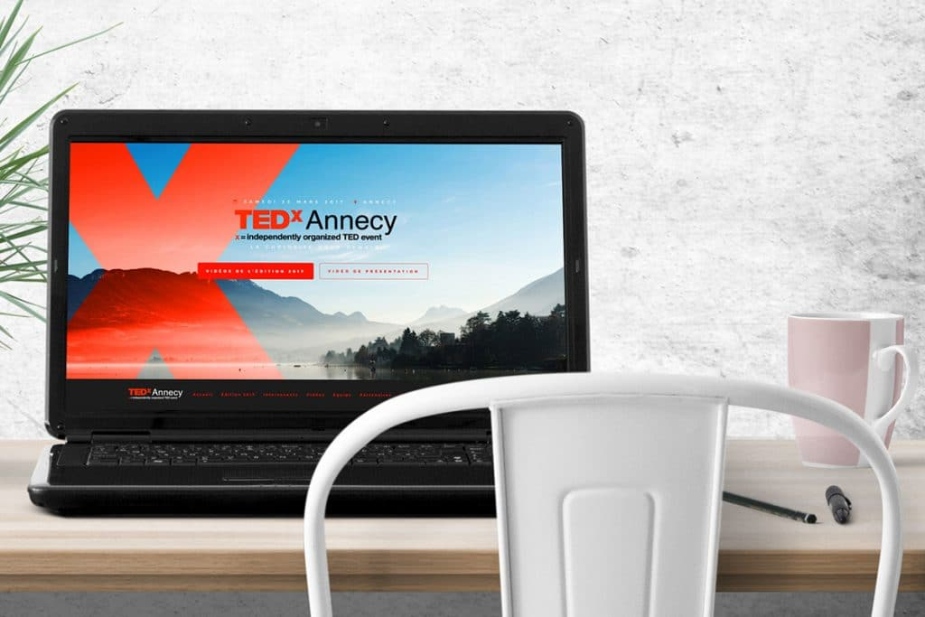 Site web TEDxAnnecy - Agence Canefora