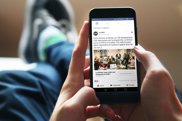 publicité mobile facebook ads - agence web