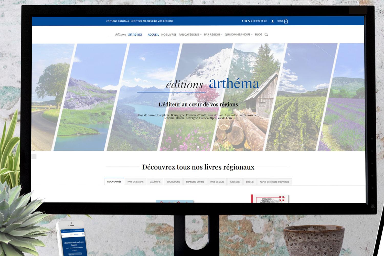 Réalisation Site Internet pour les Éditions Arthéma
