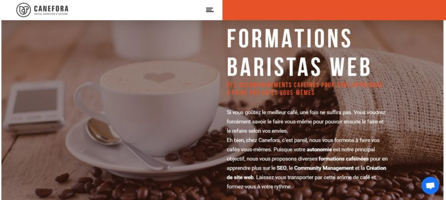 Formations baristas web - Agence Web Annecy - Canefora - WordPress - Community Management - Référencement naturel
