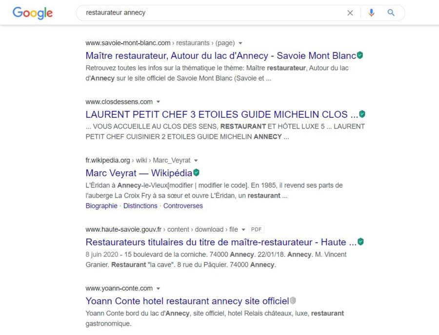 restaurant annecy - création de site web - agence digitale annecy - requête google - site internet - canefora