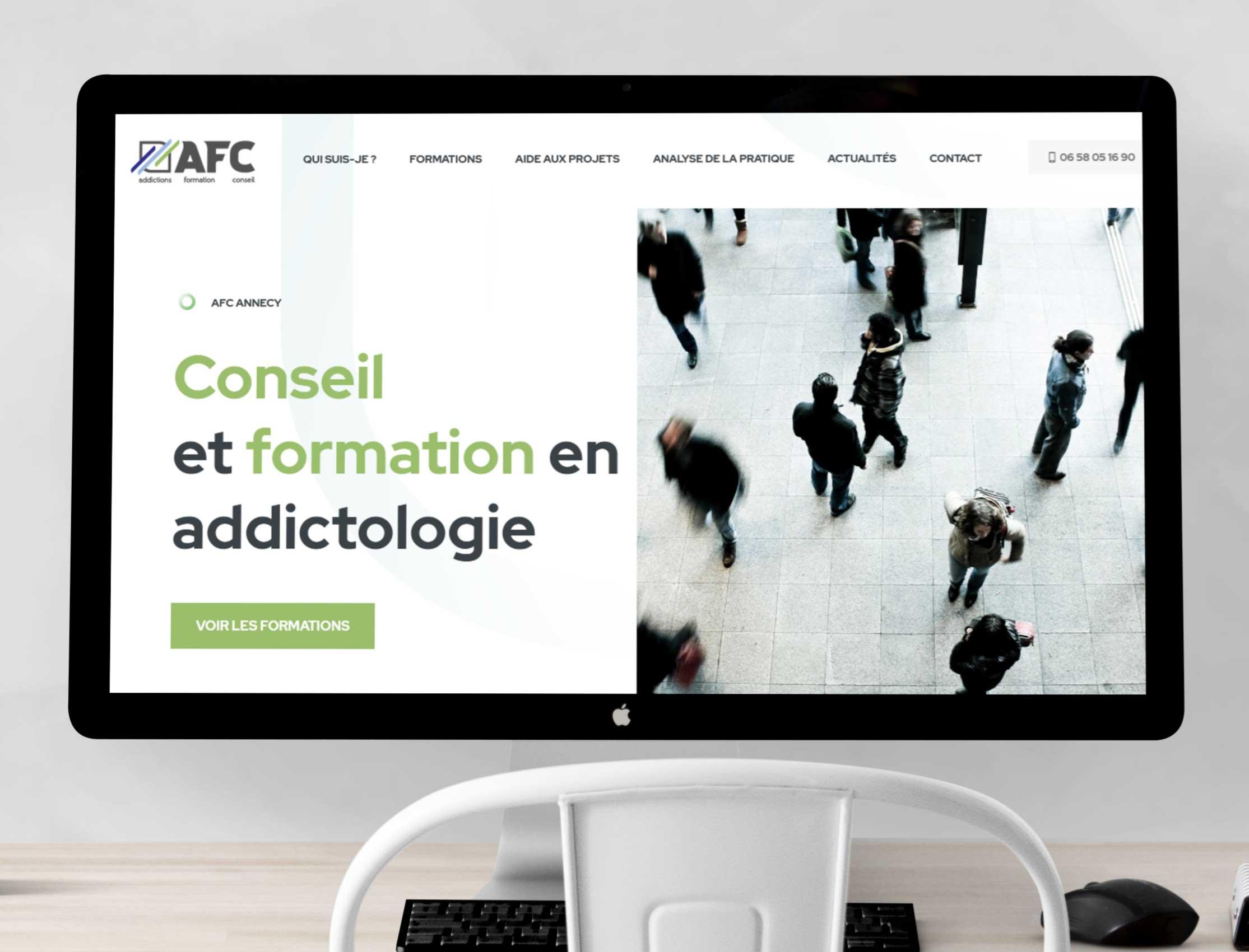 Création site WordPress pour AFC écran d'ordinateur