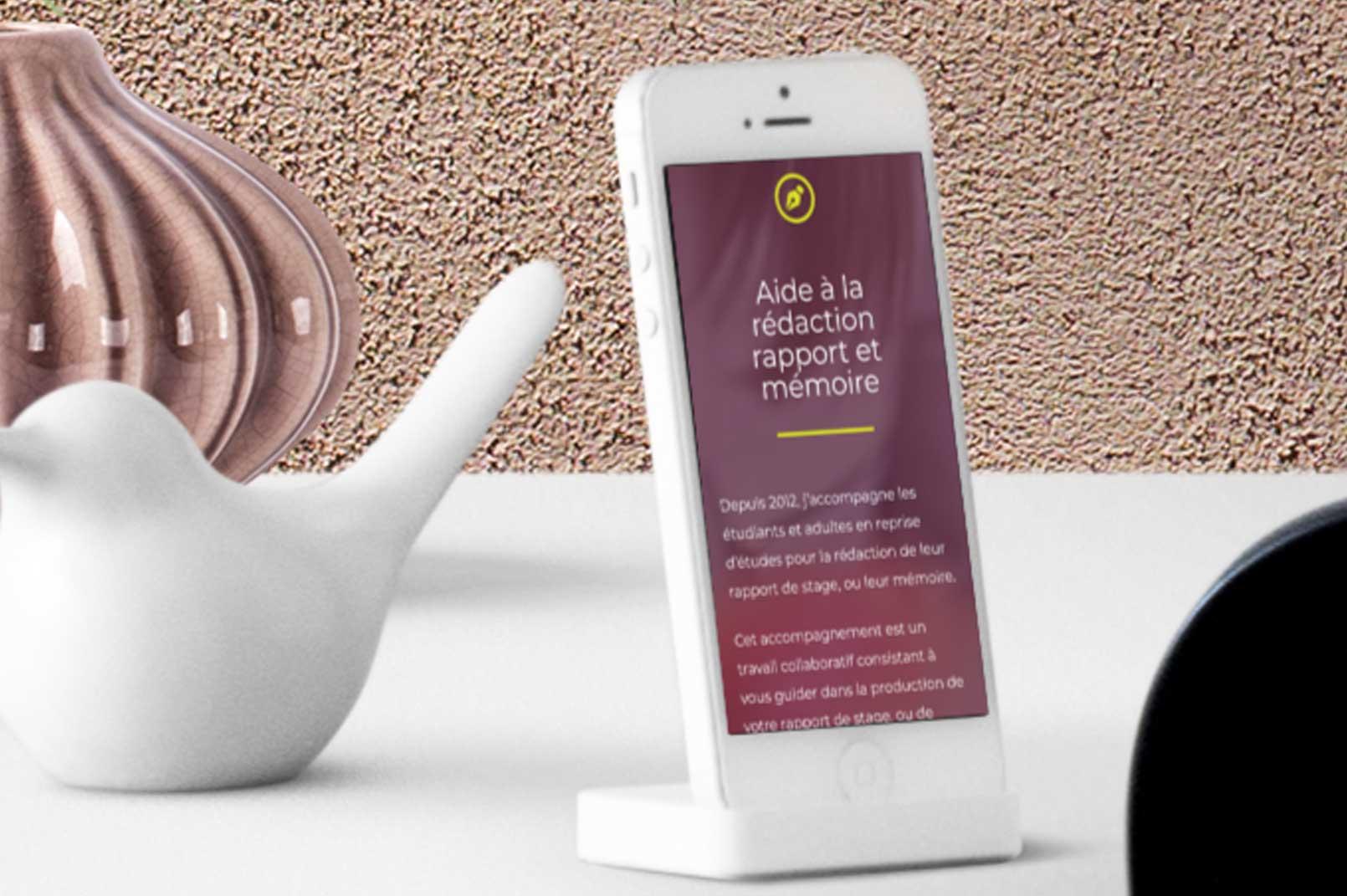 Création site web responsive mergence écran de mobile