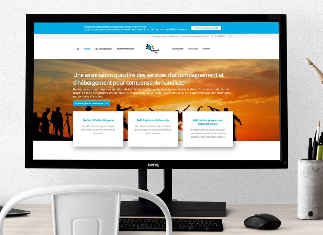 Site web Espoir 74 grand écran