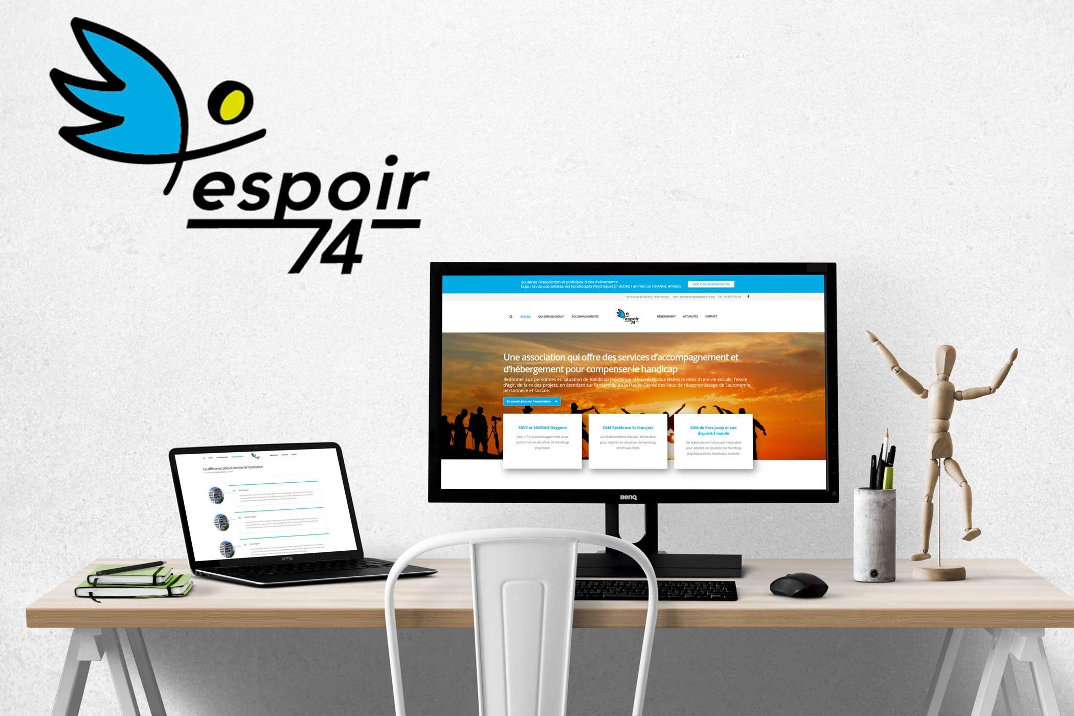 Site internet Espoir 74