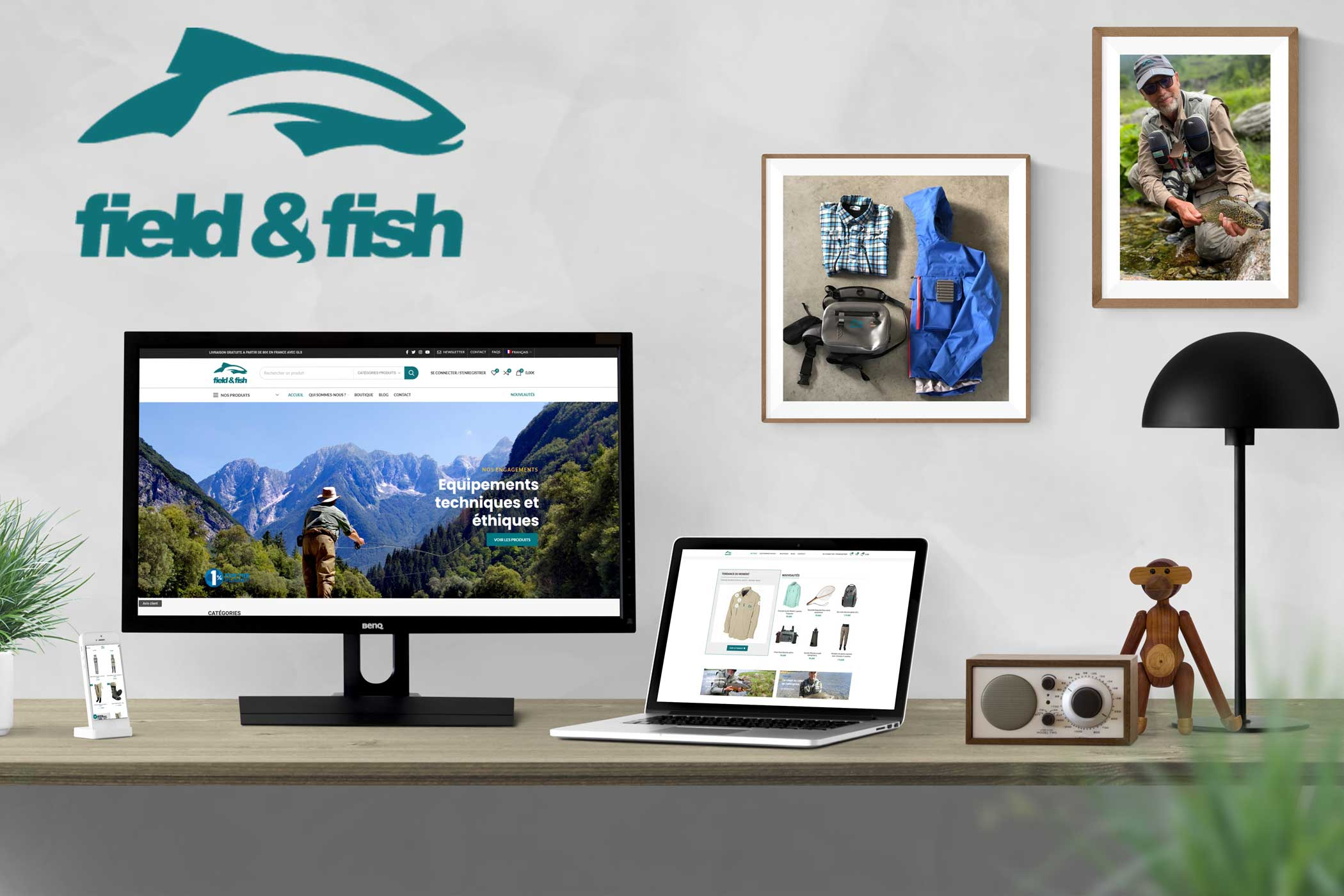 Refonte site e-commerce Field and Fish