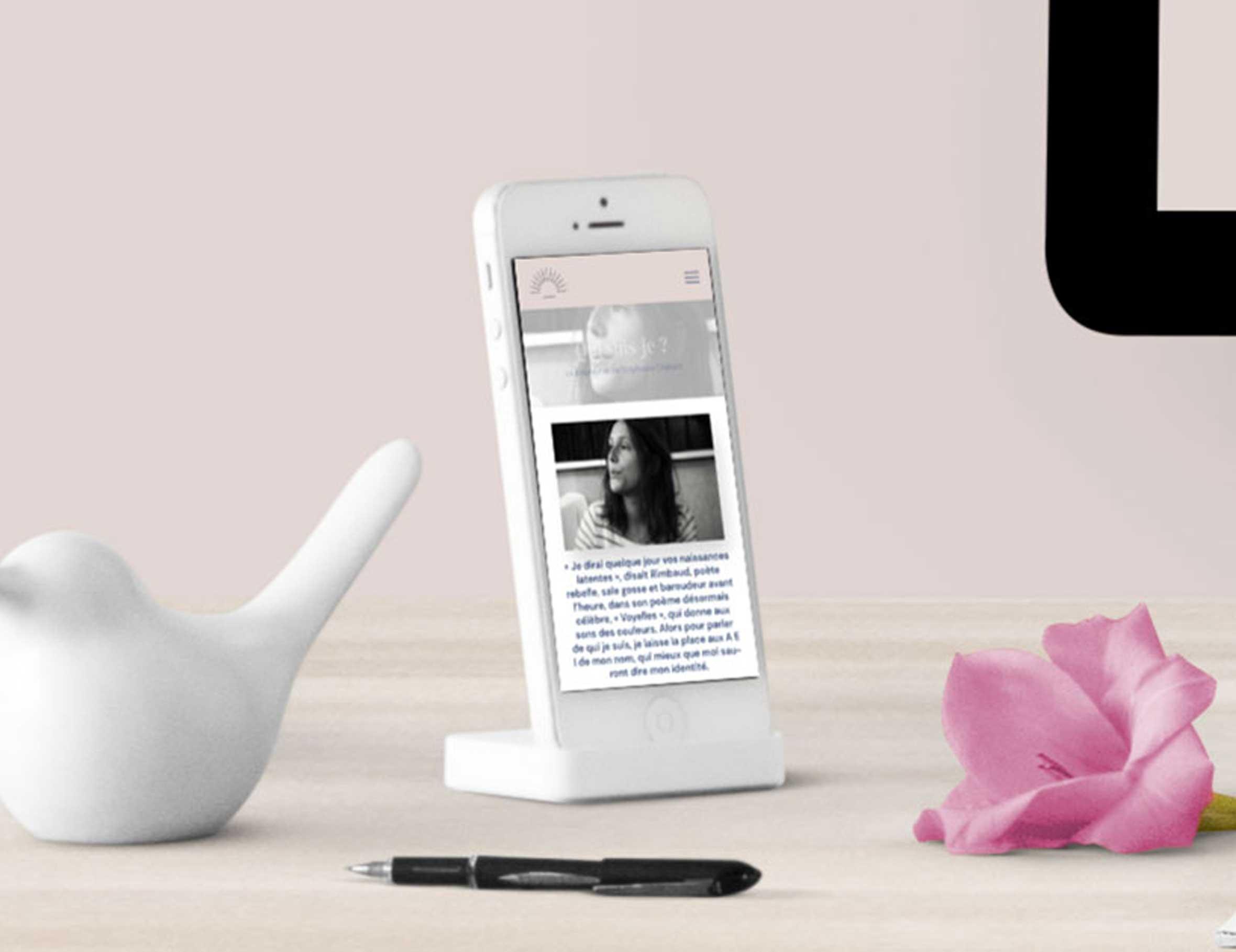 Site internet La Première Heure sur mobile